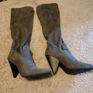 Sassy faux suede boots
